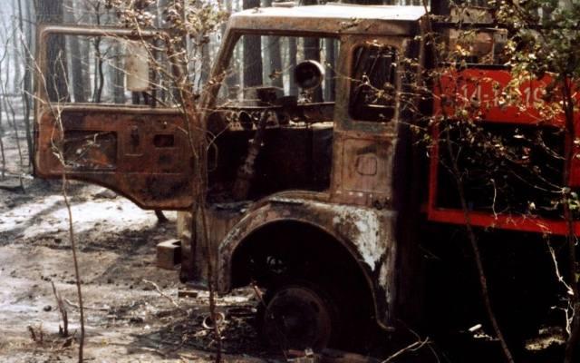 Pożar lasu w nadleśnictwie Rudy Raciborskie w 1992 r. (wideo)