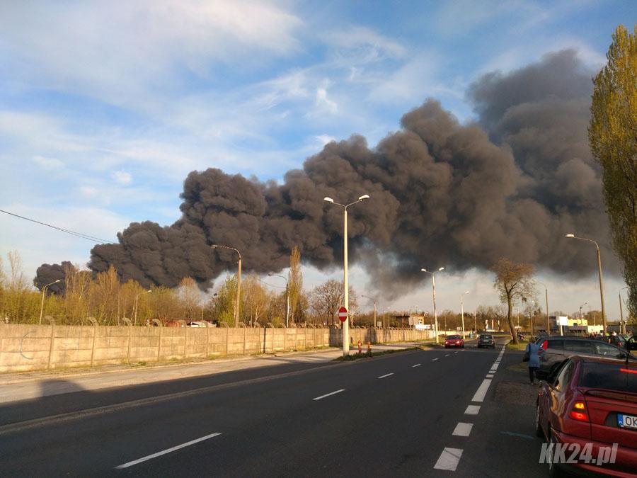 Ogromny pożar w Zakładach Azotowych ugaszony