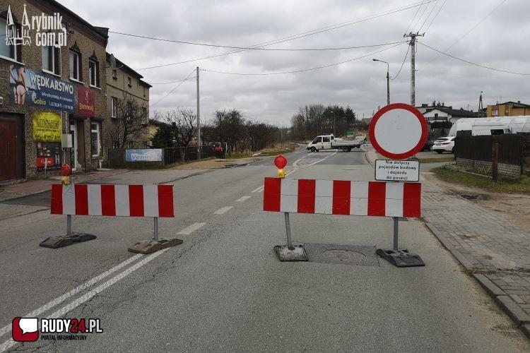 Rybnik - ul. Rudzka zablokowana. Ruszył remont (objazdy)
