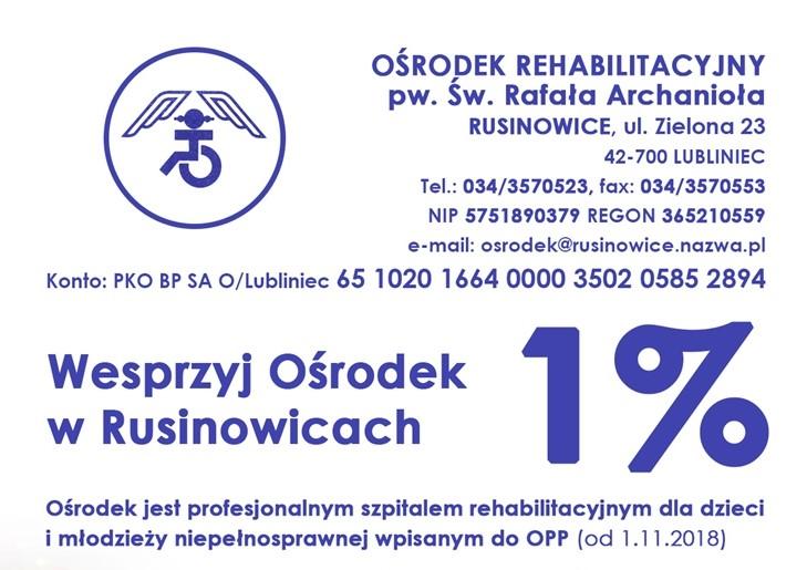 Wesprzyj Ośrodek w Rusinowicach – 1%