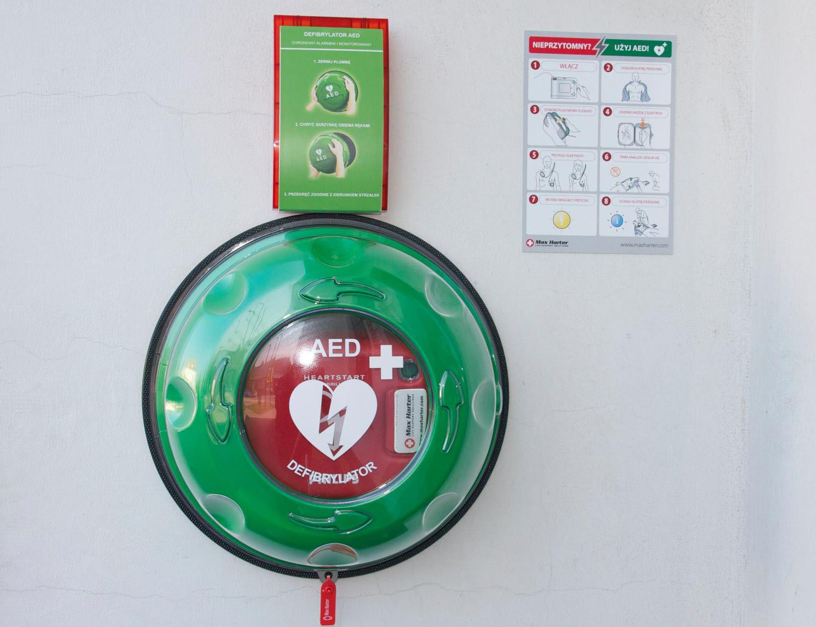 Powszechny dostęp do defibrylatorów. Sprawdź gdzie jest najbliższy!