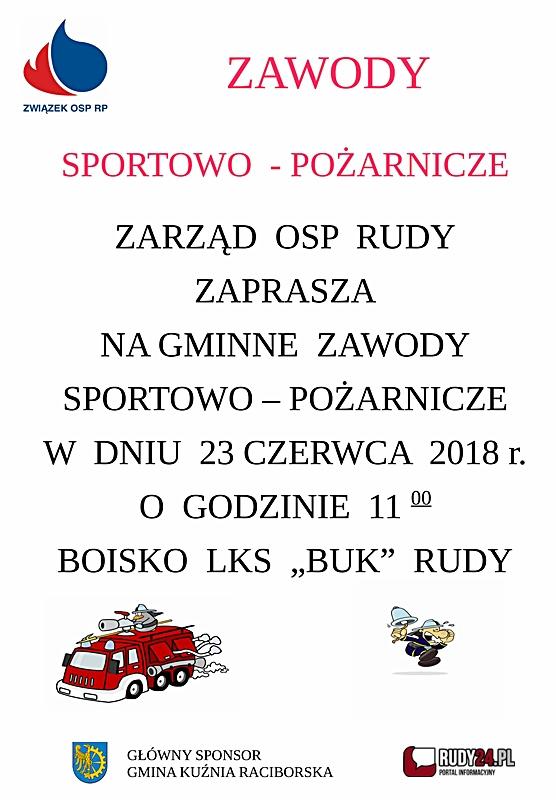 OSP Rudy zaprasza na zawody sportowo - pożarnicze