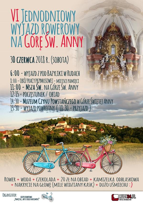 Rowerem na Górę Św. Anny