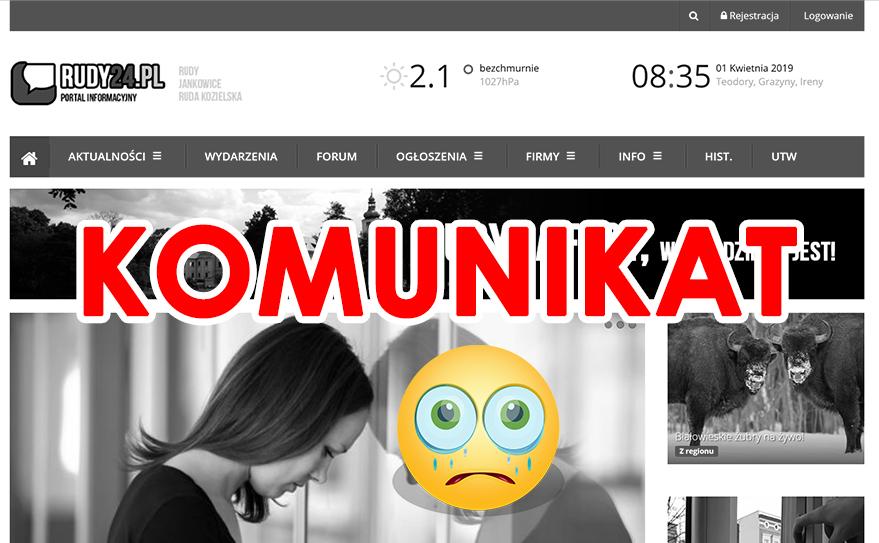 Portal informacyjny RUDY24.pl zostanie zlikwidowany!