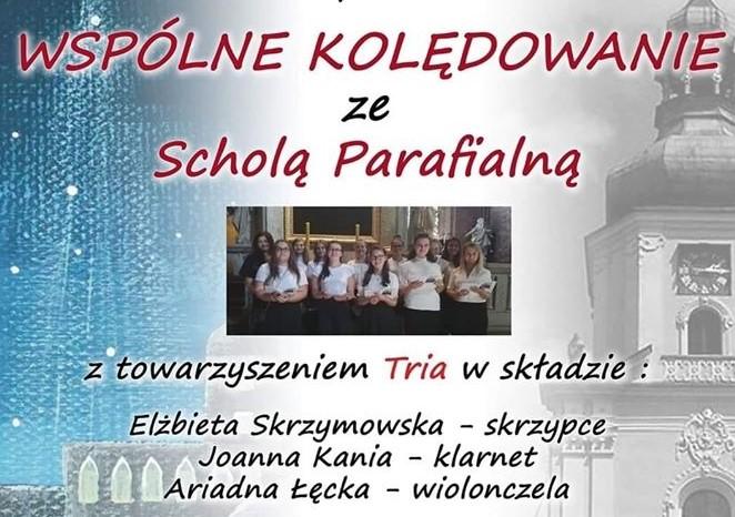 Koncert kolęd w wykonaniu Scholi Parafialnej już jutro.