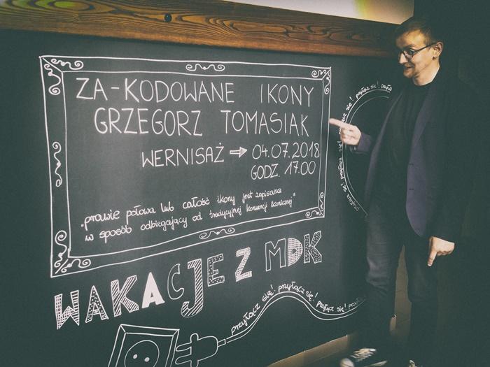 """""""Za - kodowane ikony"""" Grzegorza Tomasiaka"""