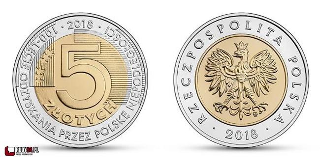 Na stulecie niepodległości pamiątkowa moneta