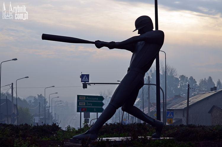 Przy Żorskiej pojawił się baseballista!