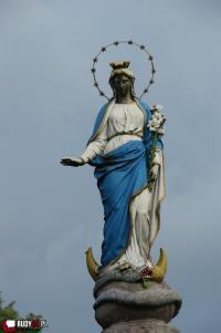Kolumna z figurą Najświętszej Maryi Panny w Rudach zdemontowana. I co dalej?