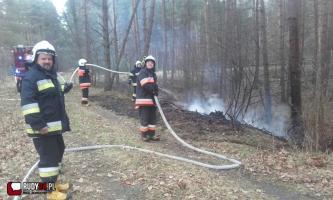 Ogień w bliskości wiaduktu