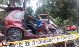Poważny wypadek. Cztery osoby ranne, dwie ciężko