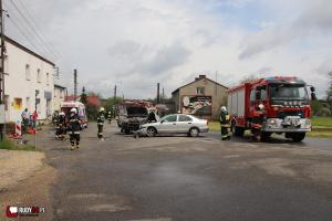 Wypadek na ul. Rybnickiej! Problemy z przejazdem