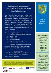 Podnoszenie kompetencji cyfrowych Mieszkańców Gminy Kuźnia Raciborska