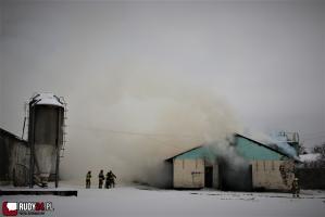 Na terenie fermy drobiu w Rudach doszło do pożaru