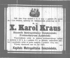 Z cyklu: Uchronić przed zapomnieniem -  ks. Franciszek Kraus