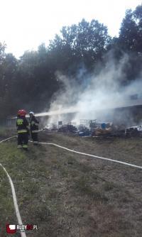 Pożar w Rudach i Rudzie Kozielskiej