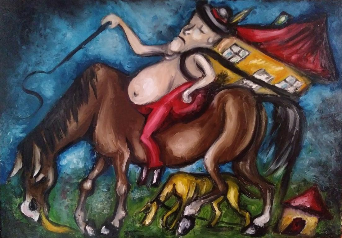 Sprzedam obraz olejny na płótnie - Surrealizm